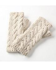 SHOKAY for TOHOKU<BR>ケーブルニット・ハンドウォーマー<BR>Cable Knit Handwamer