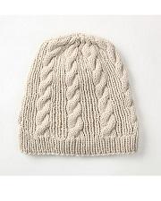 SHOKAYforTOHOKU<BR> ケーブルニット・キャップ(ピマコットン70%、ヤク30%)<BR>Cable Knit Cap